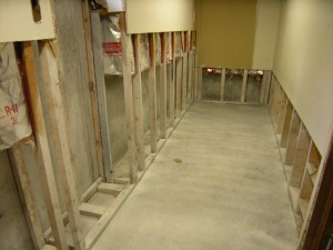 basement during remediation
